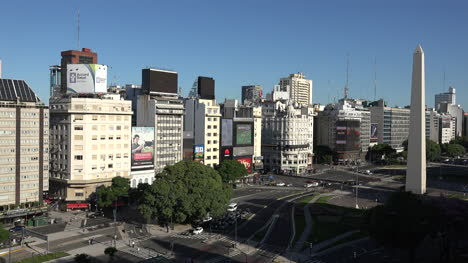 Argentina-Buenos-Aires-Zooms-To-Buildings-On-July-9-Avenue