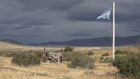 Argentina-Patagonia-Dark-Sky-And-Flag