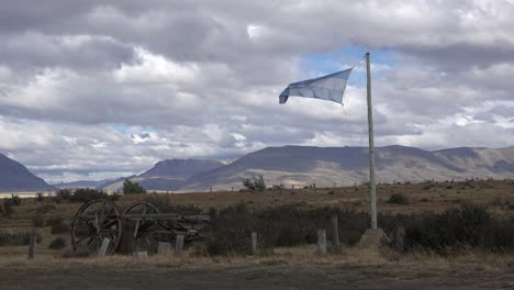 Argentina-Patagonia-Flag-In-The-Wind