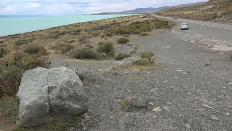Argentina-View-Of-Boulder-Lake-And-Road