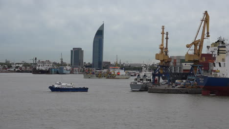 Uruguay-Boats-In-Montevideo-Harbor