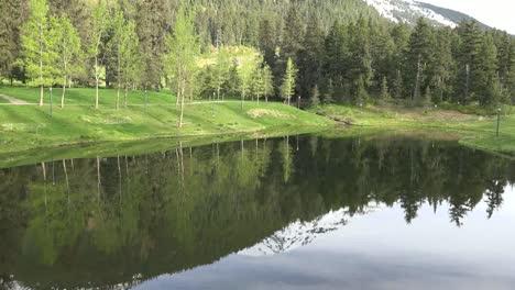 Alaska-Alyeska-Mountain-Reflected-In-Pond