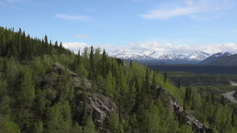 Alaska-Denali-Park-Spring-Mountainside-Zooms-In