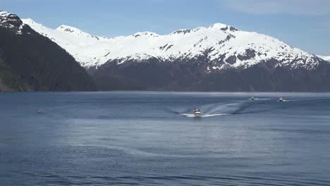 Alaska-Boats-Approaching-Whittier