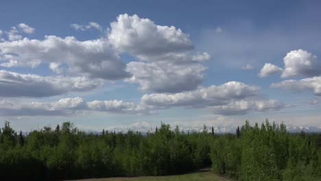Alaska-Clouds-Above-Forest-And-Mountains