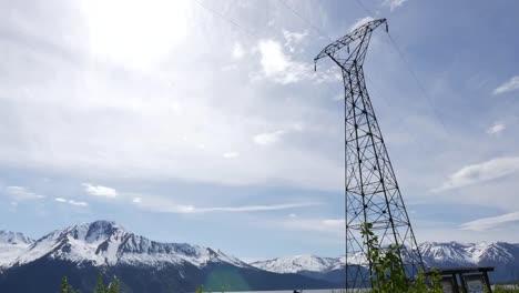 Alaska-Electric-Power-Transmission-Tower-Along-Fjord-Tilt-Up