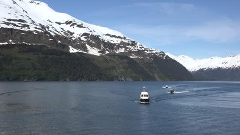 Alaska-Four-Boats-Sail-Toward-Whittier