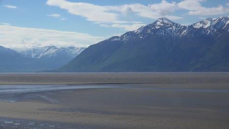 Alaska-Incoming-Tide-With-Mountain