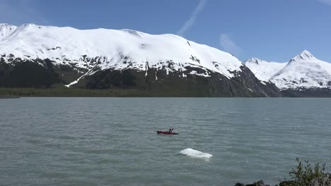 Alaska-Kayaker-Paddling-In-Portage-Lake