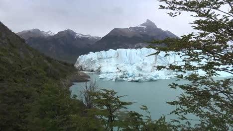 Argentina-Perito-Moreno-Glacier-With-Trees-And-Mountain