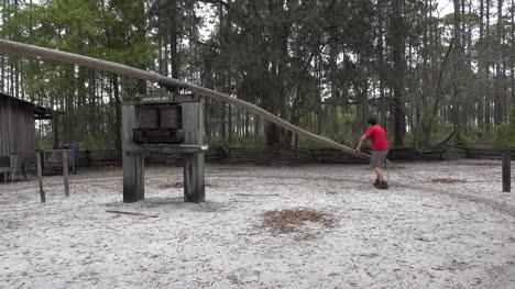 Georgia-Okefenokee-Boy-Turns-Sugar-Mill