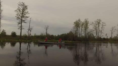Georgia-Okefenokee-Canoe-In-The-Swamp