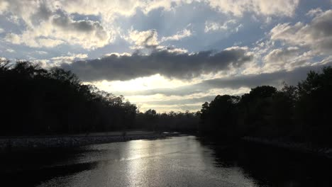 Georgia-Okefenokee-Clouds-Over-Water-Late-Afternoon