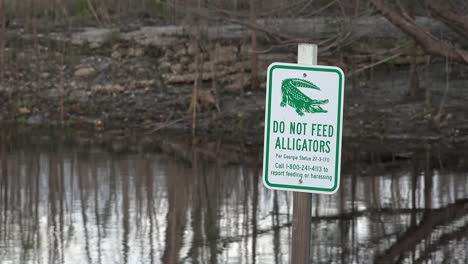 Georgia-Okefenokee-Don-t-Feed-Alligators-Sign