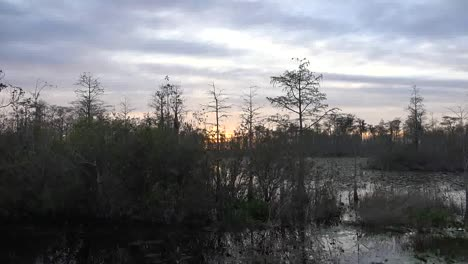 Georgia-Okefenokee-Sun-Drops-Lower-Over-Swamp