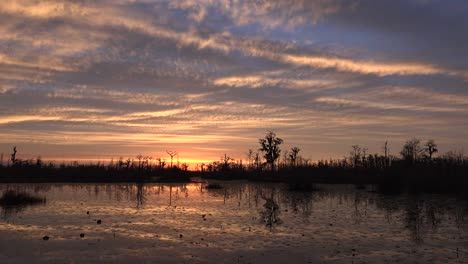 Georgia-Okefenokee-Sunset-Sky-With-Clouds-Above