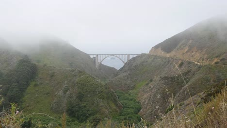 California-Big-Sur-Bixby-Bridge-And-Canyon-In-Fog