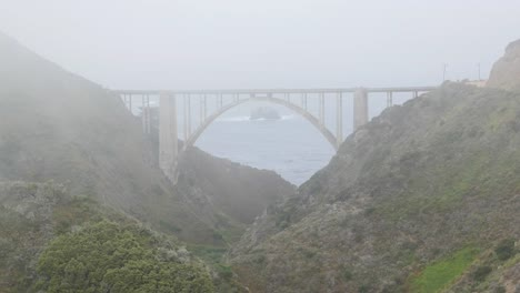California-Big-Sur-Bixby-Bridge-In-Clouds-With-Rock-Time-Lapse