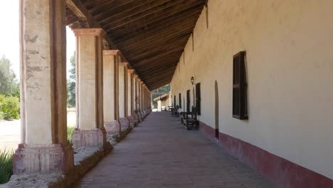 California-Lompoc-Mission-La-Purisima-Concepcion-Colonnade-With-People