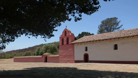 California-Lompoc-Mission-La-Purisima-Soberanes-Bell-Tower-From-Under-Tree