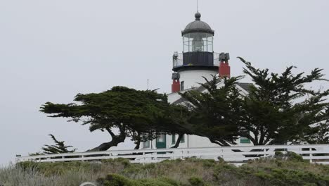 California-Monterey-Peninsula-Point-Pinos-Lighthouse-Side-View