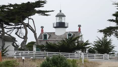 California-Monterrey-Peninsular-Pacific-Grove-Point-Pinos-Lighthouse-Grey-Skies