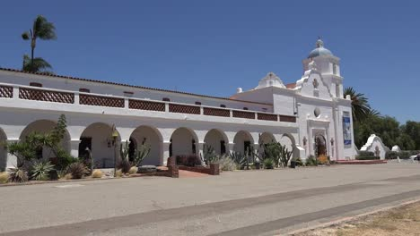 California-Oceanside-Mission-San-Luis-Rey-De-Francia-Front-With-Colonade