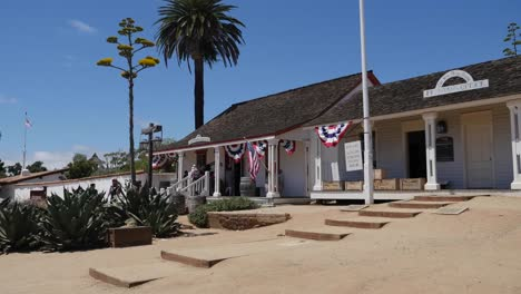 California-San-Diego-Old-Town-Printing-Office-With-Tourists