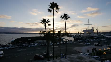 California-San-Diego-Evening-Waterfront-With-Palms