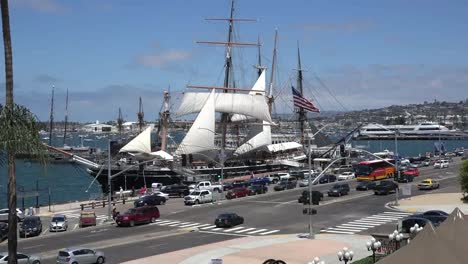 California-San-Diego-Sailing-Ship-Zoom-In