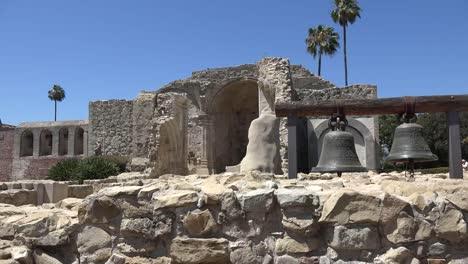 California-San-Juan-Capistrano-Mission-Basilica-Ruins-Bells-Palm
