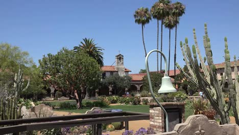 California-San-Juan-Capistrano-Mission-Courtyard-Bell-Tower-Camino-Real-Bell