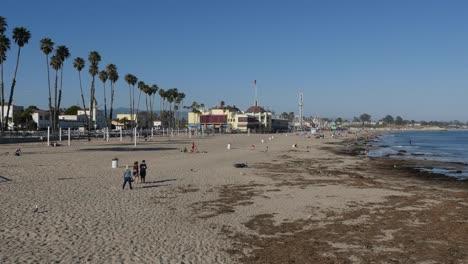 California-Santa-Cruz-Cowells-Beach-Boardwalk-In-Distance