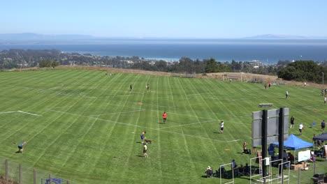 Kalifornien-Santa-Cruz-Disc-Turnier-Aufwärmen-Warm
