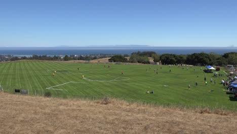Kalifornien-Santa-Cruz-Disc-Turnierfeld-Auf-Dem-Santa-Cruz-Campus