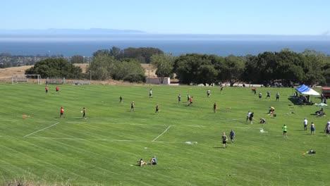 Kalifornien-Santa-Cruz-Disc-Tourney-Leute-Auf-Dem-Feld