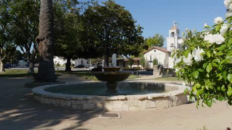 California-Santa-Cruz-Mission-Park-With-Fountain-And-Camelias