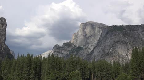 California-Yosemite-Half-Dome-Under-Clouds