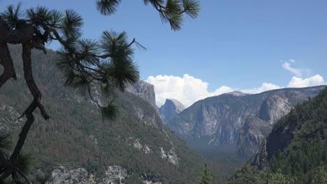 California-Yosemite-Zooms-On-Cloud-Over-Half-Dome