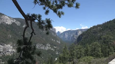California-Yosemite-Zooms-Out-From-Cloud-Over-Half-Dome