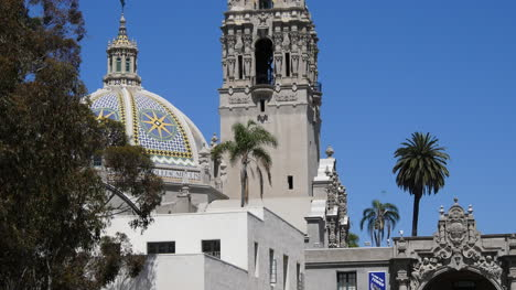 California-Mosaic-Dome-And-Tower-With-Palm-Trees