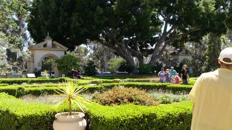 California-People-Walk-Through-Garden