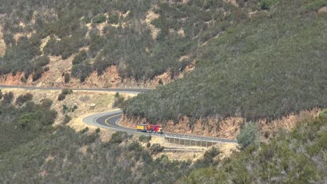 California-Truck-On-A-Winding-Sierra-Foothills-Road
