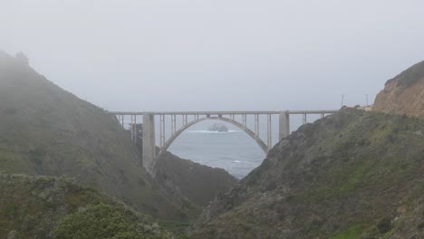 California-Big-Sur-Bixby-Bridge-And-Canyon-In-Mist-Zoom-In