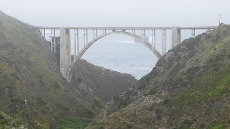 California-Big-Sur-Bixby-Bridge-In-Clouds-With-Old-Coast-Road-Zoom-Out