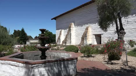California-Fremont-Mission-San-Jose-Courtyard-With-Fountain