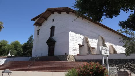 California-Fremont-Mission-San-Jose-Front-With-Museum-Sign