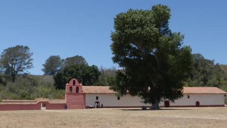 California-Lompoc-California-Mission-La-Purisima-Concepcion-Pans-Across-Grounds
