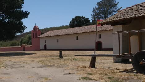 California-Lompoc-California-Mission-La-Purisima-Concepcion-Wagon-And-Tree-With-Bell-Tower-Pan