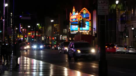 California-Los-Angeles-Busy-Active-City-Street-At-Night